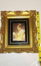 "Vintage Ornate Framed ""Young Girl Reading"" by Jean-Honore Fragonard, Print, Art,"