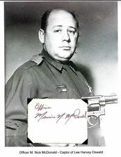 Nick McDonald Autograph Officer Arrested Lee Harvey Oswald JFK Assassination