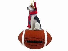 American Foxhound Dog Football Sports Figurine Ornament