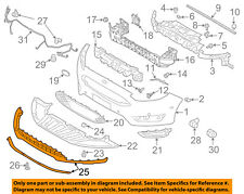 FORD OEM 15-16 Focus-Bumper Spoiler-Valance Panel Lip Chin F1EZ17626A