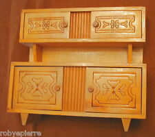 Credenza mobile in legno design vintage casa di bambola mignon mini dollhouse