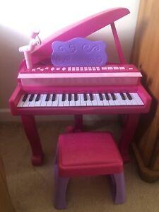 Kids Electronic Keyboard Organ Piano & Stool