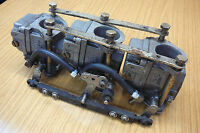 MARINER 50hp AUTOLUBE OUTBOARD ENGINE TRIPLE CARBURETTOR, LINKAGES & BOLTS