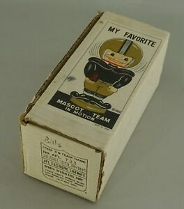 ORIGINAL 1968 MIAMI DOLPHINS AFL FOOTBALL BOBBLE HEAD NODDER EMPTY DISPLAY BOX