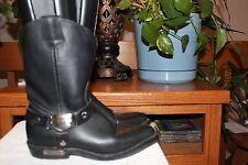 Harley-Davidson Ladies Black Western Bar Shield Boots 98424 Size 7.5 Euc