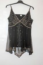 Size  Small to Medium Evening Top Party Cruisewear Chiffon Sparkly Beaded