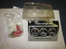 "NOS Napa 2"" Triple Gauge Kit 501-1457  Chevy Pontiac Dodge Ford Truck Street Rod"