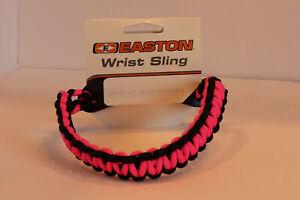 Easton Wrist Sling Diamond Paracord Wide Braid (Pink/Black)