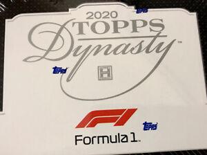 2020 TOPPS DYNASTY FORMULA 1 RACING HOBBY BOX - Brand New In Hand