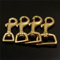 5PCS Solid Brass Lobster Trigger Swivel Eye Snap Hook Leather Craft Bag Buckle