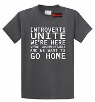 Introverts Unite We Wanna Go Home Funny T Shirt Antisocial Gift Tee