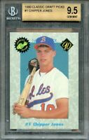 1990 classic draft picks #1 CHIPPER JONES braves rookie BGS 9.5 (10 9 9.5 9.5)