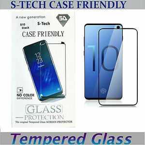 For Samsung Galaxy S10e S10 PLUS Full Cover Glass Case Friendly Screen Protector