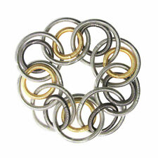 TRI COLOR DOUBLE RINGS PIANO WIRE BRACELET