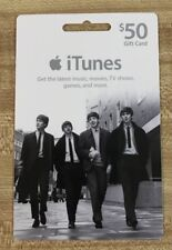 Beatles itunes $50 Gift Card Unused  No Value Collectible