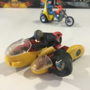 VINTAGE 1:32 BRITAIN'S LTD YELLOW BMW MOTORCYCLE SIDECAR RACING COMBINATION