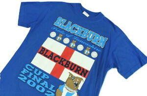 """Blackburn Rovers Cup Final 2002 Nearly Vintage T-Shirt Small 20"""" Pit To Pit"""