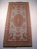 Small Persian Rug Style Paisley Art Silk Woven Termeh Raw Tapestry Wall Hanging