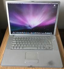 """Apple A1046 2003 Powerbook G4 15"""" FW800 1GHz 60GB HDD 1.25G Ram Leopard CD-RW"""