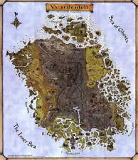 HQ Print Vvardenfell TES 3 Morrowind Map Wall Decor Fabric Poster 32x24 inch