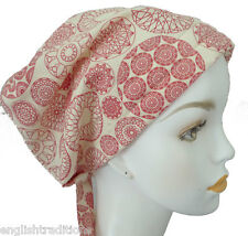Classic Red Cancer Hat Alopecia Bad Hair Day Scarf Turban Head Wrap Cover