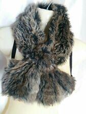 Faux Fur Brown black Bear Fox mink  Collar Cuff Scarf Wrap.