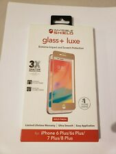 ZAGG InvisibleShield Glass + Luxe Screen Protector for iPhone 8/7 Plus - gold