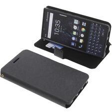 Tasche für Blackberry Key2 Book-Style Schutz Hülle Handytasche Buch Schwarz