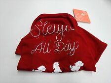 ST. JOHN'S BARK SMALL PET APPAREL RED SLEIGH ALL DAY WINTER DOG CHRISTMAS #16360