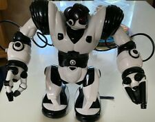 "WowWee Robosapien Humanoid Toy R/C Robot 14"" Black White-2004-Used-No Remote"