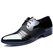 Men's Oxfords Business Dress Formal Leather Shoes Flat Lace Up Casual Loafers