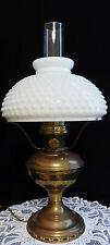 ALADDIN BRASS GAS CONVERTED ELECTRIC LAMP - MODEL #12