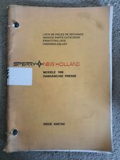 NEW HOLLAND 366 BALER PARTS CATALOGUE