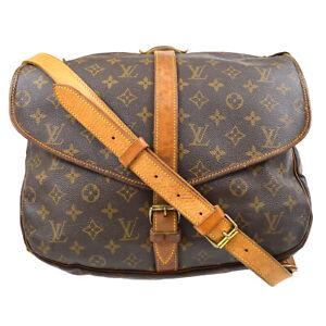 LOUIS VUITTON SAUMUR 35 SHOULDER BAG PURSE MONOGRAM CANVAS AR0965 M42254 63192