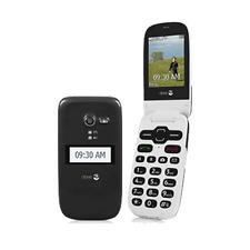 UNLOCKED Black Doro Phone Easy 626 (Consumer Cellular) Flip Phone
