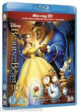 3D & 2D Blu Ray Disney Beauty and the Beast REGION FREE IMPORT 2 Disc Set~ NEW !