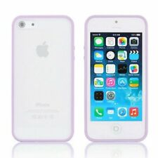 iPhone 6S 6 case Bumper Case Cover Protective Frosted Clear Hard Purple