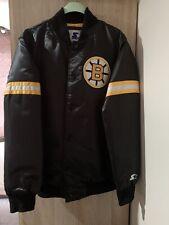 Rare NHL Boston Bruins Satin Starter Legends Jacket Size Medium