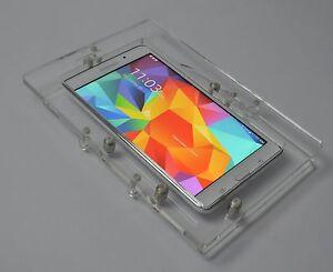 """Samsung Galaxy TAB A E 8"""" Tablet Acrylic Security Wall Mount Kit for Kiosk, POS"""