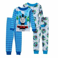 Two Sets Boys Thomas the Tank Engine & Friends Pajamas Size 2T 2 Long Sleeve NEW