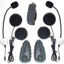 2× V8 Bluetooth Intercom 1200m Motorcycle Helmet interphone NFC+1 Remote control
