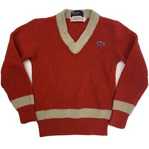 IZOD Lacoste Kid's Red Knit Sweater Size 12