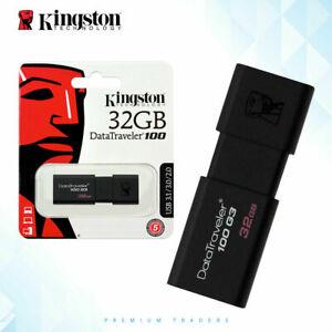 Kingston USB 3.0 Fast Data Traveler Flash Personal Drive 32 64 128GB Pen Drive