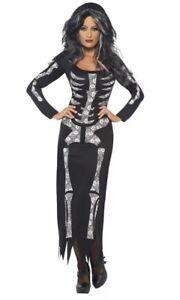 Smiffys Women's Skeleton Halloween Tube Dress Medium 12-14 Bnwt