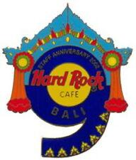 "Hard Rock Cafe BALI 2002 9th Anniversary STAFF PIN Blue ""9"" - HRC Catalog #15132"
