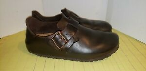 Birkenstock London Brown Leather Footbed Shoes Womans Size 10 Mens 8