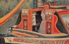 R275648 Britains Inland Waterways. A traditionally painted narrow boat cabin. Sa