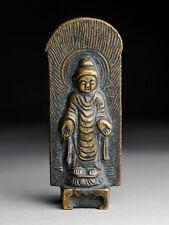 Buddha Stele China Inschrift Bronze antique Stil der Tang Dynastie alt antik