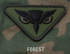 OWL HEAD FOREST ISAF COMBAT TACTICAL BADGE 3D HOOK PVC MILITARY MORALE PATCH