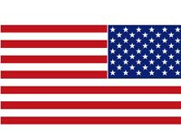 American Flag Decal RIGHT HAND VERSION United States Flag Vinyl Decal 2 3/8 x 4""
